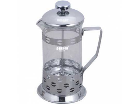 Френч-пресс Bekker BK-366 серебристый 0.6 л металл/стекло