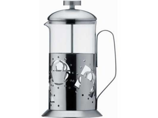 Картинка для Френч-пресс Bekker BK-361 серебристый 0.6 л металл/стекло