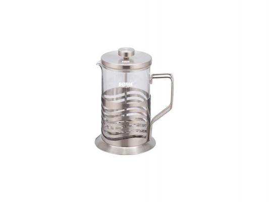 Френч-пресс Bekker BK-381 серебристый прозрачный 0.6 л металл/стекло