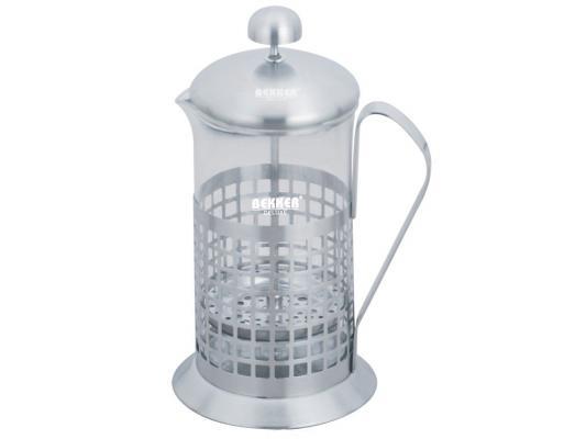 Френч-пресс Bekker BK-364 серебристый 0.6 л металл/стекло