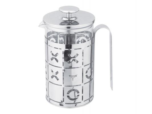 Френч-пресс Winner WR-5215 прозрачный 0.8 л металл/стекло