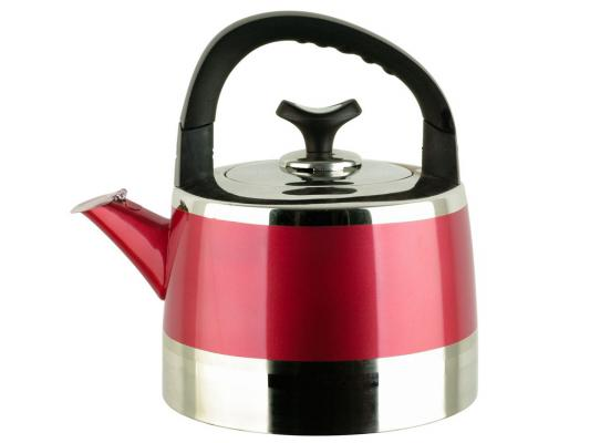 Чайник Bekker BK-S447 3 л нержавеющая сталь серебристый красный