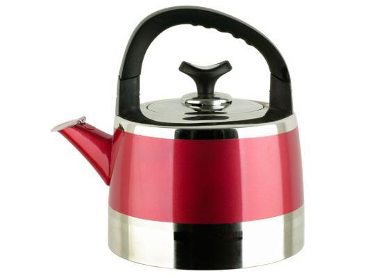 Чайник Bekker BK-S446 2.2 л нержавеющая сталь серебристый красный