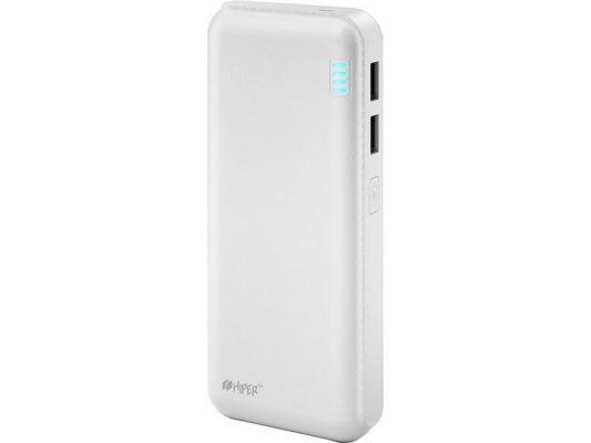 Внешний аккумулятор Power Bank 12500 мАч HIPER SP12500 белый аккумулятор hiper power bank sp12500 12500mah black