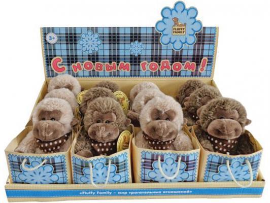 Мягкая игрушка обезьянка Fluffy Family 681154 плюш коричневый 12 см мягкая игрушка beanie boo s черепашка shellby цвет салатовый коричневый 40 5 см