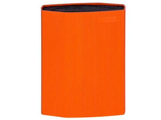 Универсальная подставка для ножей Rondell RD-470 пластик оранжевый подставка универсальная для ножей