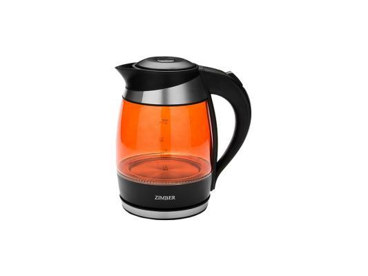 Чайник Zimber ZM-10978 2000 Вт 2 л пластик чёрный оранжевый