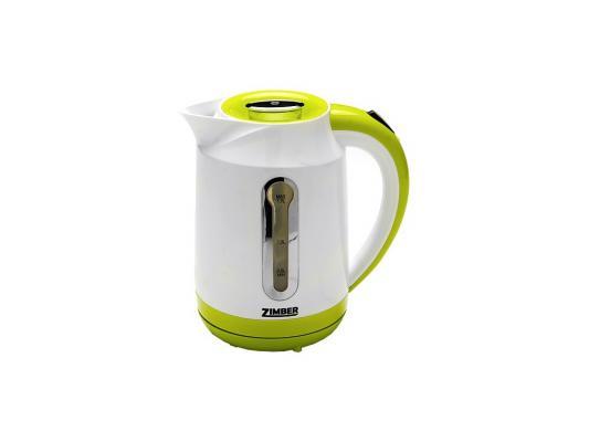 Чайник Zimber ZM-10826 2000 Вт 1.7 л пластик белый зелёный чайник zimber zm 10818 2000 зелёный 1 8 л металл стекло