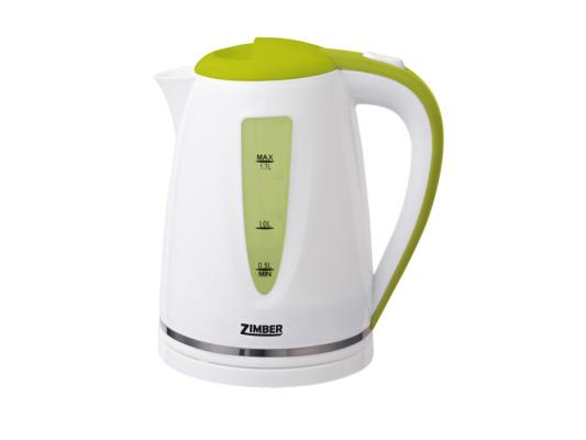 Чайник Zimber ZM-10850 2200 Вт 1.7 л пластик белый зелёный