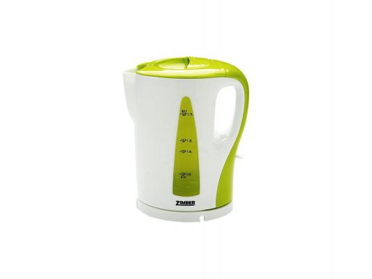 Чайник Zimber ZM-10861 2200 Вт 1.7 л пластик белый зелёный