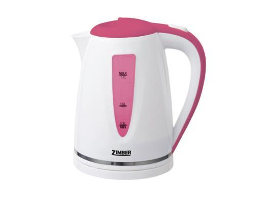 Чайник Zimber ZM-10853 2200 Вт 1.7 л пластик белый розовый чайник zimber zm 11032