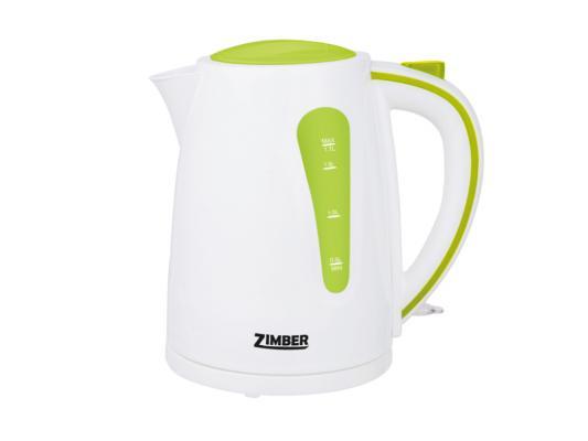 Чайник Zimber ZM-10842 2200 Вт 1.7 л пластик белый зелёный