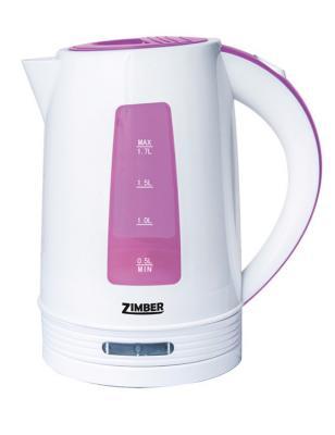 Чайник Zimber ZM-10847 2200 Вт 1.7 л пластик белый розовый