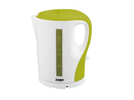 Чайник Zimber ZM-10859 2200 Вт 1.7 л пластик белый зелёный