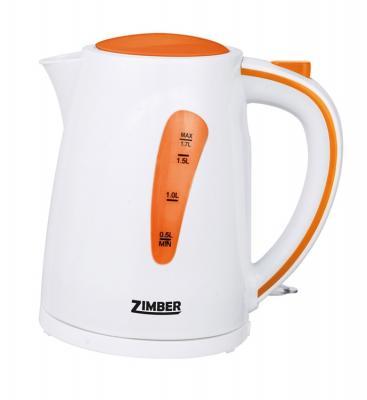 Чайник Zimber ZM-10840 2200 Вт 1.7 л пластик белый оранжевый