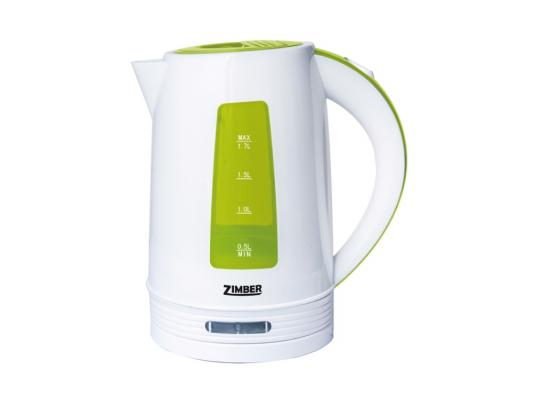 Чайник Zimber ZM-10846 2200 Вт 1.7 л пластик белый зелёный