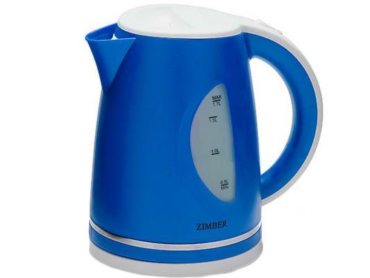 Чайник Zimber ZM-11030 2200 Вт 1.7 л пластик белый синий