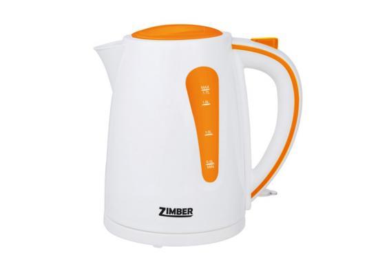 Чайник Zimber ZM-10844 2200 Вт 1.7 л пластик белый оранжевый