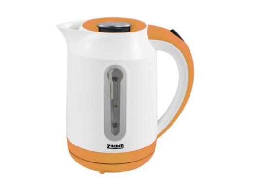 Чайник Zimber ZM-10825 2000 Вт 1.7 л пластик белый оранжевый