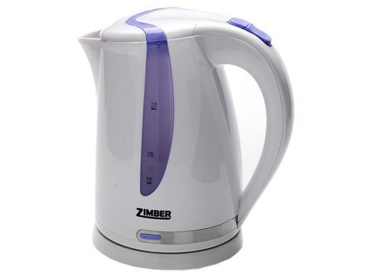 Чайник Zimber ZM-10830 2200 Вт 1.7 л пластик белый фиолетовый
