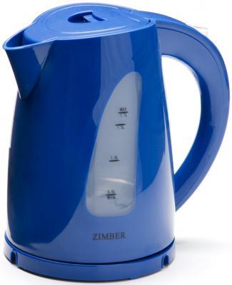 Чайник Zimber ZM-11032 2200 Вт 1.7 л пластик синий чайник zimber zm 10845 2200 вт 1 7 л пластик белый розовый