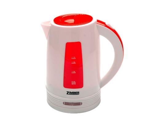 Чайник Zimber ZM-10849 2200 Вт 1.7 л пластик белый красный