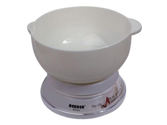 Весы кухонные Bekker Весы кухонные механические белый