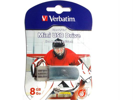 Флешка USB 8Gb Verbatim Mini Graffiti Edition Hockey 049878 USB2.0
