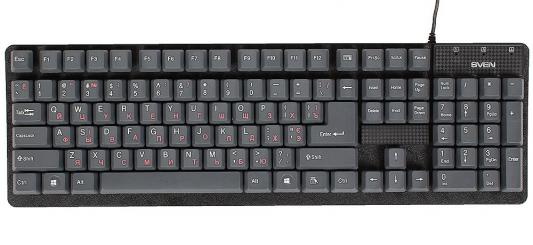 Клавиатура Sven Standard 301 USB серый
