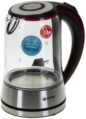 Чайник Vitek VT-7009 TR 2150 Вт серебристый 1.7 л металл/стекло