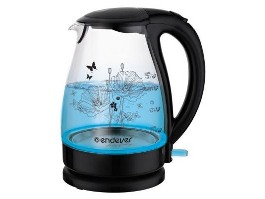 Чайник ENDEVER Skyline KR-309G 2200 Вт 1.8 л пластик/стекло чёрный прозрачный