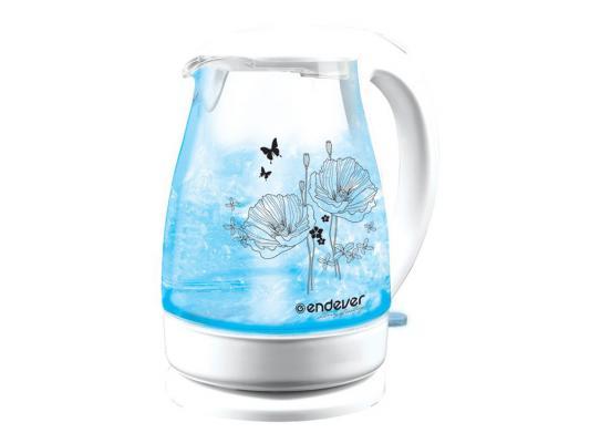 Чайник ENDEVER Skyline KR-308G 2200 Вт 1.8 л пластик/стекло белый прозрачный