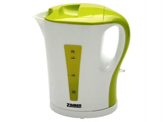 Чайник Zimber ZM-10857 2200 Вт белый зелёный 1.5 л пластик