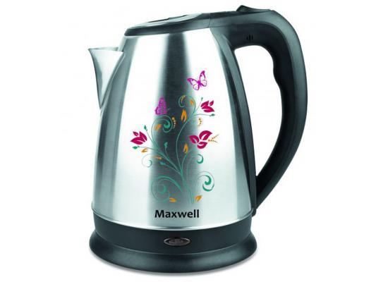 все цены на Чайник Maxwell MW-1074 ST 2200 Вт 1.7 л нержавеющая сталь серебристый чёрный онлайн