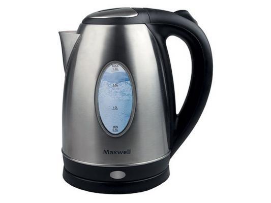 лучшая цена Чайник Maxwell MW-1073(ST) 2200 Вт 1.7 л металл серебристый