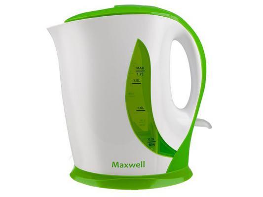 Чайник Maxwell MW-1062(G) 2200 Вт белый зелёный 1.7 л пластик