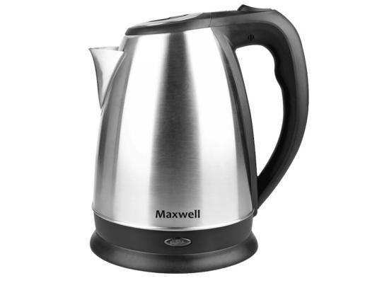 лучшая цена Чайник Maxwell MW-1045(ST) 2200 Вт 1.7 л металл серебристый
