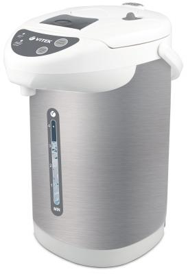 Термопот Vitek VT-1196 W 750 Вт белый серебристый 4 л нержавеющая сталь цена и фото