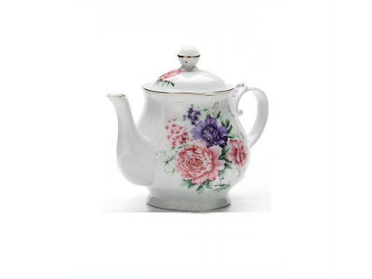 Чайник заварочный Loraine LR-24580 0.8 л керамика рисунок белый