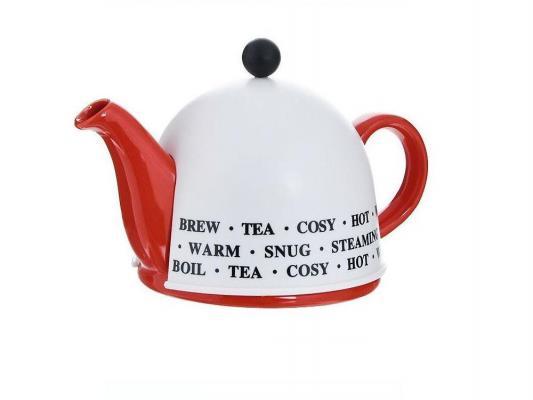 Чайник заварочный Mayer&Boch 21875 0.8 л керамика белый красный рисунок