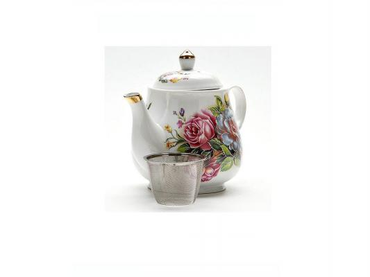 Чайник заварочный Mayer&Boch Loraine 21142 белый рисунок 1 л керамика