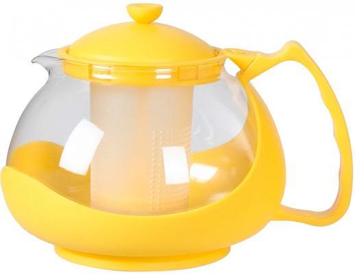 Чайник заварочный Bekker BK-310 разноцветный 1.25 л пластик/стекло чайник заварочный bekker 303 вк серебристый 0 9 л металл пластик