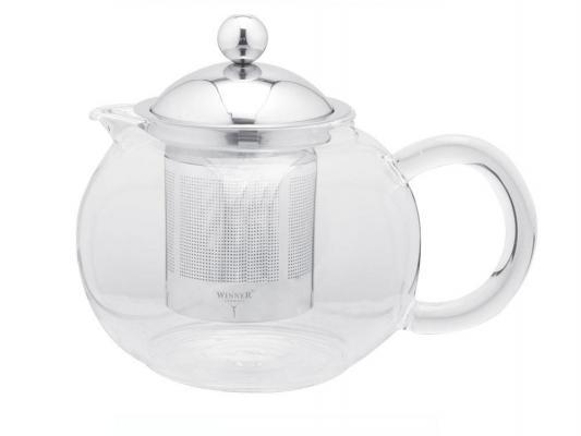 Чайник заварочный Winner WR-5212 0.65 л металл/стекло серебристый прозрачный
