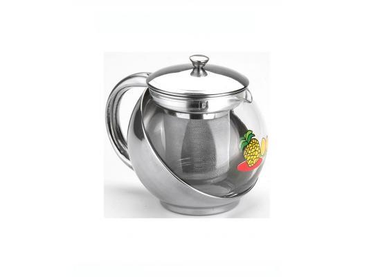 Чайник Mayer&Boch 2025 0.5 л металл/стекло серебристый