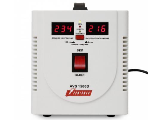 Стабилизатор напряжения Powerman AVS 1500D белый 2 розетки