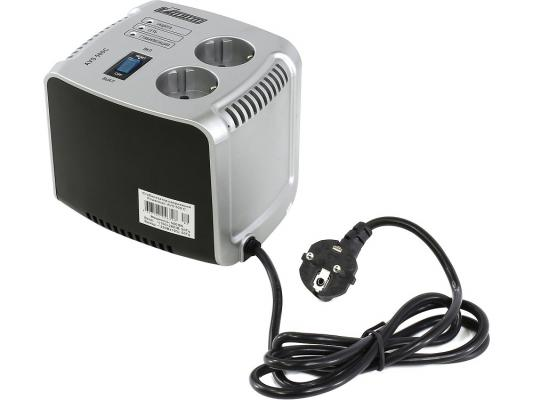 Стабилизатор напряжения Powerman AVS 500C серебристый 2 розетки внешний аккумулятор deppa prime line 8000mah 2 5a белый 3351
