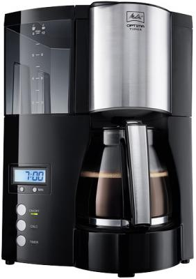 Кофеварка и кофемашина Кофеварка Melitta Optima Glass Timer черный 20322