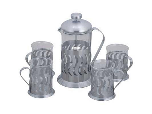 Чайный набор Bekker BK-367 0.6 л металл/стекло серебристый bekker чайный сервиз bekker bk 7145 15 предметов ihygxrd