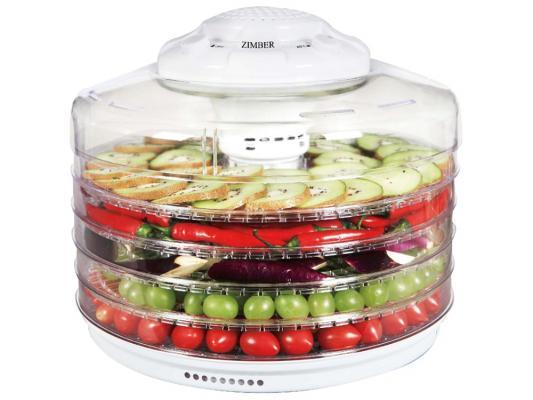 Сушка для овощей и фруктов Zimber ZM-11025 350Вт белый