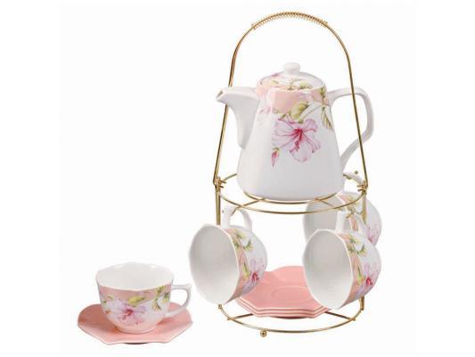 Чайный набор Loraine LR-24738 1.1 л керамика красный белый рисунок чайный набор loraine lr 24697 0 23 л керамика розовый